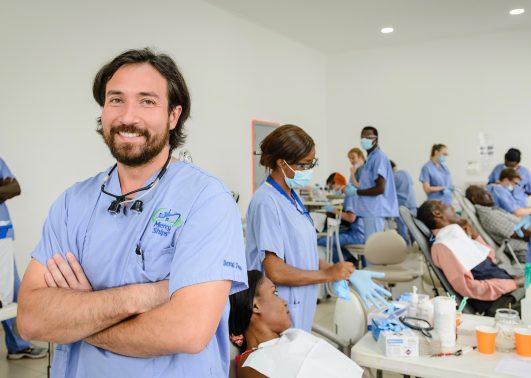Lead Dentist David Ugai at work