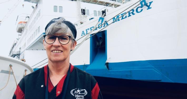Blanche Decerf vrijwilliger Africa Mercy