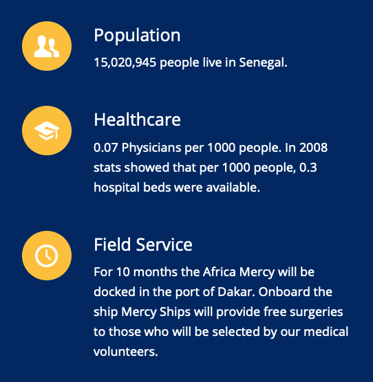 Senegal Mercy Ships Africa Mercy