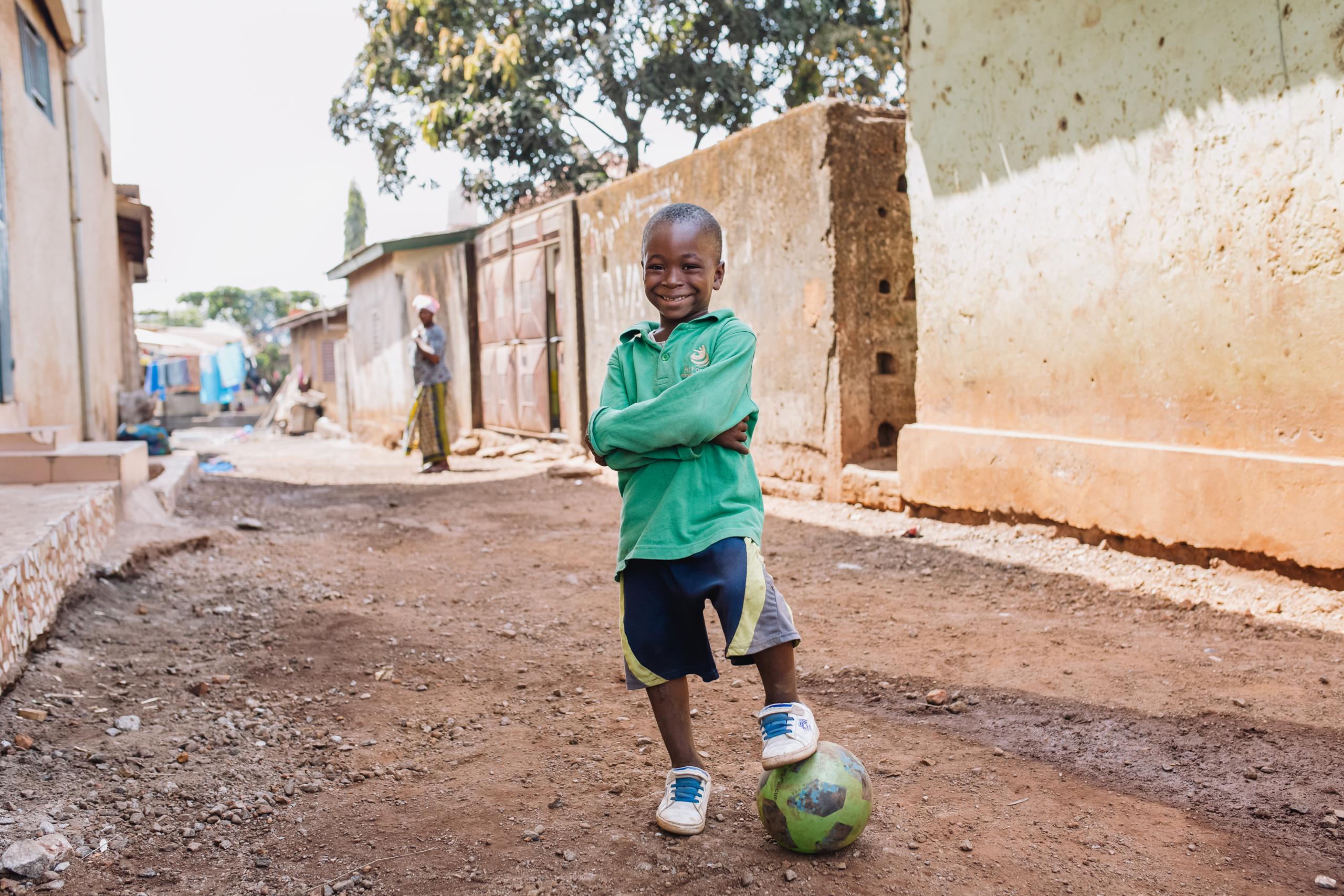 Mohamed voetbalt weer