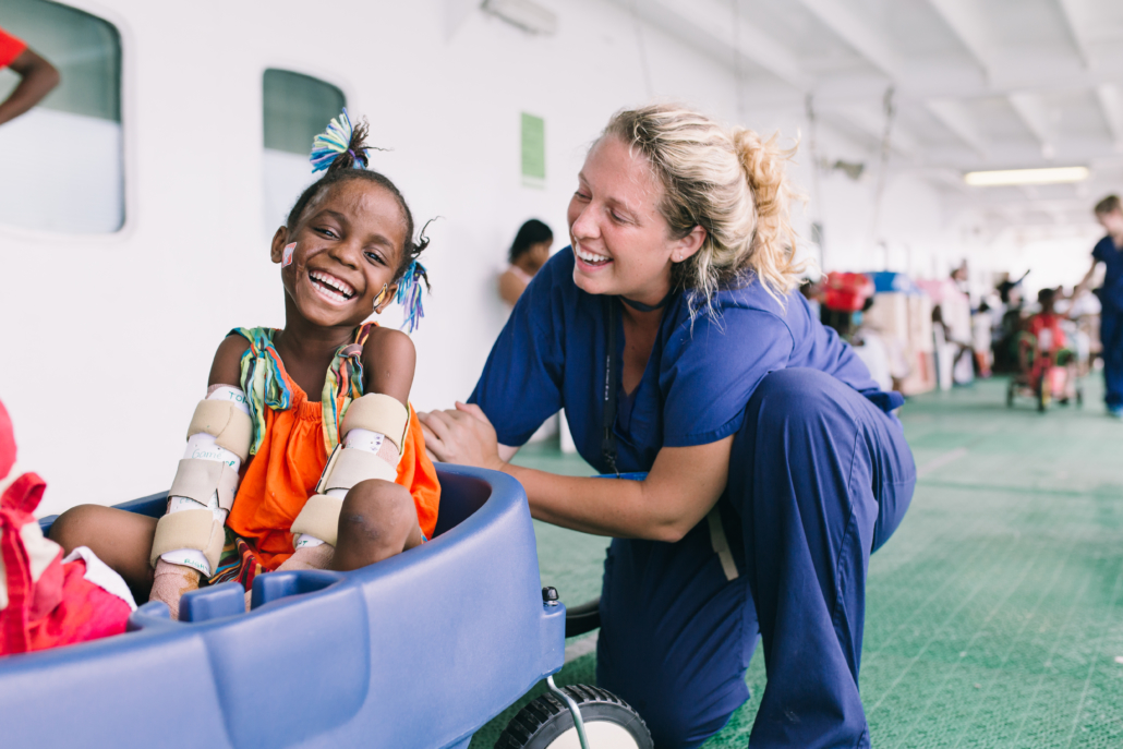 Over Mercy Ships