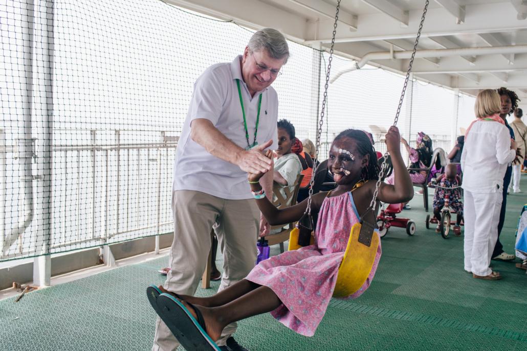 Marc Pauwels op de Africa Mercy