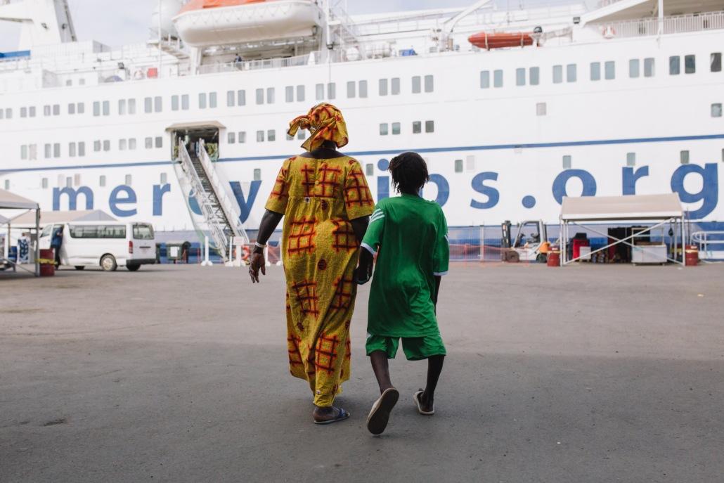 Marie Mercy Ships patiënt