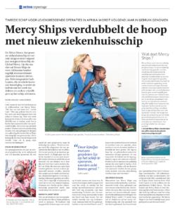 Mercy Ships in De Zondag 2020