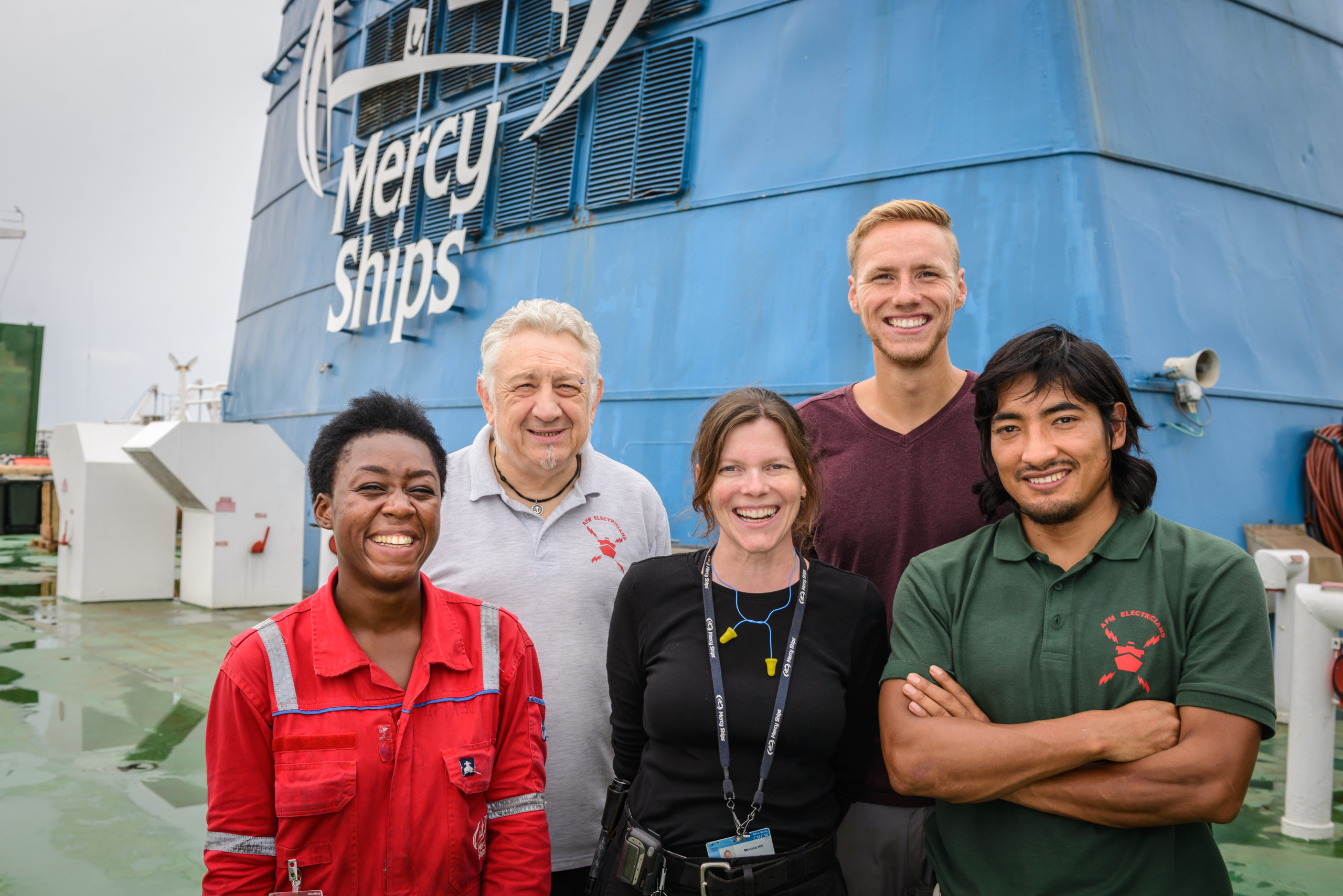 Vrijwilligers Mercy Ships