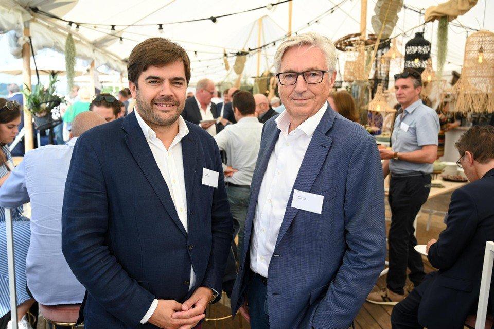 Yves en Greg Aertssen zijn al jarenlang overtuigde sponsors van de organisatie Mercy Ships. — © Patrick De Roo